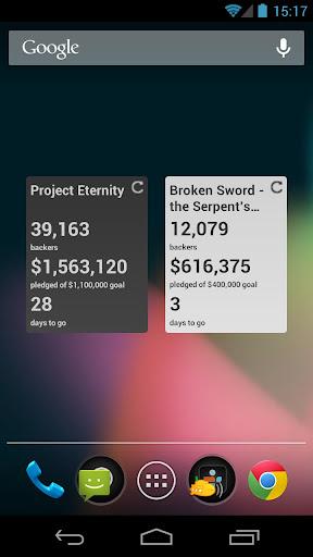 Kickstarter Tracker Widget