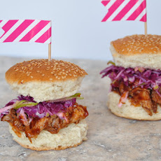 Mini Pulled Pork Sandwiches with homemade slaw