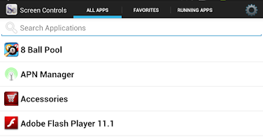Screenshot of Screen Controls pro