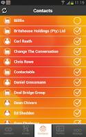 Screenshot of Contactable App
