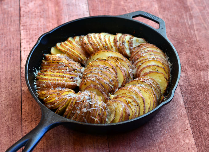 potatoes hasselback potatoes with spinach cashew pesto parmesan red ...