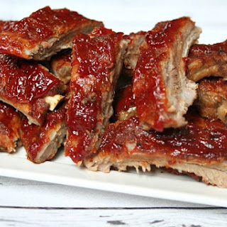 Slow Cooker Sriracha- Cranberry Baby Back Ribs