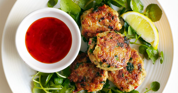 Chilli And Ginger Crab Cakes With Watercress Recipe | Yummly