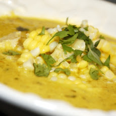 Yellow Summer Squash and Corn Soup
