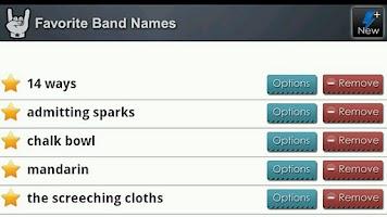 Screenshot of Band Name Generator