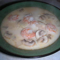 Tom Kha (Coconut Soup) With Shrimp, Easy
