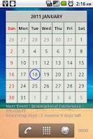 Screenshot of Countdown Calendar Lite