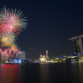 Fireworks in the air by Benny Ng - City,  Street & Park  Skylines