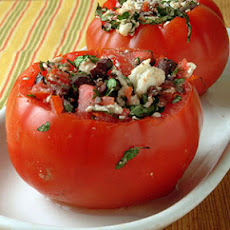 Cheese and Olive-Stuffed Tomatoes