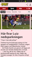 Screenshot of Sportbladet