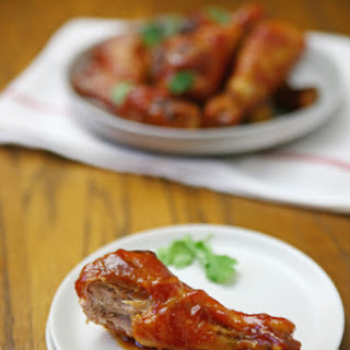 Bourbon-Honey Baked Chicken Wings