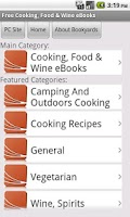 Screenshot of Cooking eBooks
