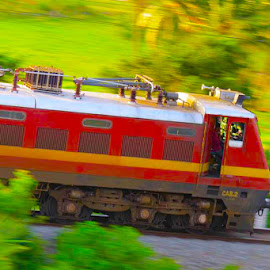 Running Train by Just-In Raja - Transportation Trains ( express )