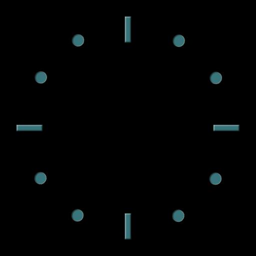Glass clock black - darmowy widget zegar szk142o na telefonie android!