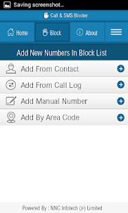 Call Blocker And SMS Blocker P - screenshot