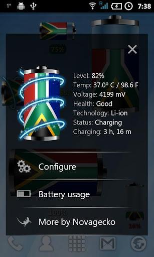 玩個人化App|남아 프리카 - 배터리 위젯免費|APP試玩