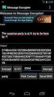 Screenshot of Message Encrypter