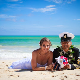 vow renewal by Holly Ank - People Couples ( wedding photography, wedding, beach, portraits, oahu,  )