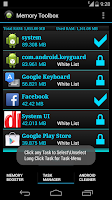 Screenshot of Memory Toolbox for Android Pro