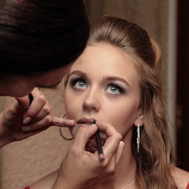Bride  by Lodewyk W Goosen-Photography - Wedding Getting Ready ( love, kiss, married, wedding, hitch, couple, bride and groom, marriage )