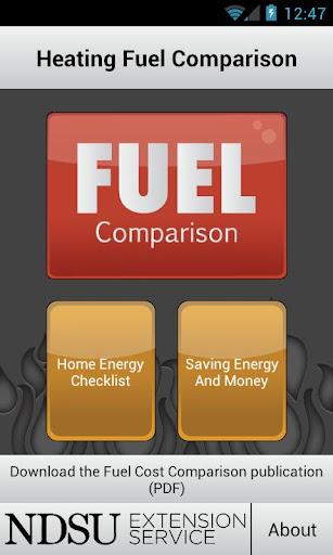 NDSU Heating Fuel Comparison