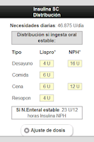 Screenshot of Terapias de Insulina en UCI