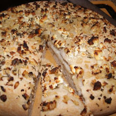 Focaccia With Onions, Rosemary and Feta Cheese