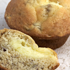 Cream Cheese Filled Banana Muffins