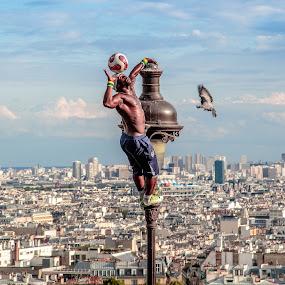 Balancing Over Paris by David Long - People Street & Candids (  )