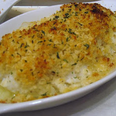 Baked Scrod With Lemon Herb Panko Crumbs