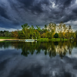 Autumn in the storm by Edward Luong - Landscapes Cloud Formations