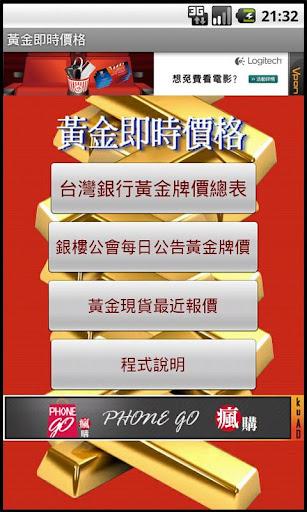 台灣黃金價格