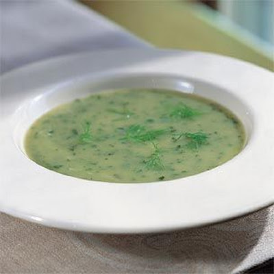 Chilled Potato-Leek Soup with Fennel and Watercress (Vichyssoise)