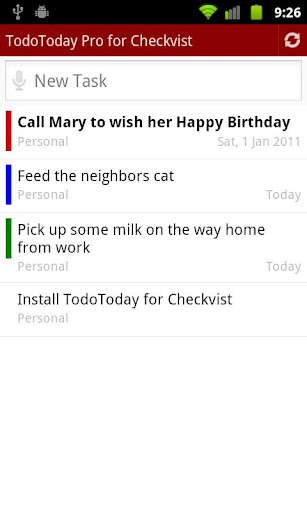 TodoToday Pro for Checkvist