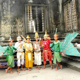 Khmer Dancers by Jaliya Rasaputra - People Musicians & Entertainers ( cambodia,  )