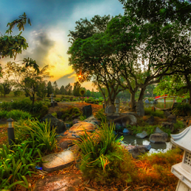Secret garden by Rajeev Kalyan - Nature Up Close Gardens & Produce ( hdr, green, gardens, sunrise, singapore )
