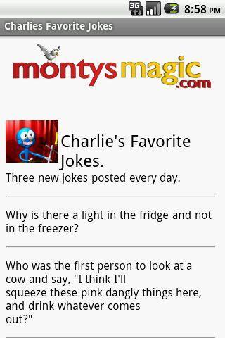 Charlie's Favorite Jokes