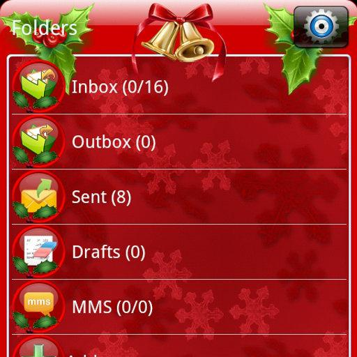 Christmas GO SMS Theme