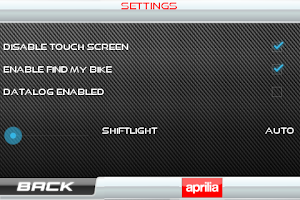 Screenshot of Aprilia Multimedia Platform