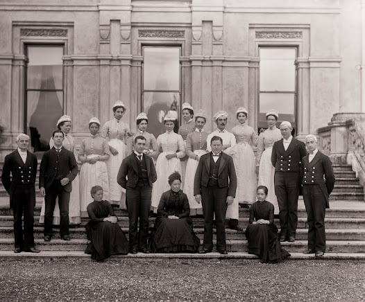 Uniformed servants, Curraghmore, Portlaw, Co. Waterford. (PWP 143)