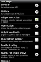 Screenshot of Email Widget