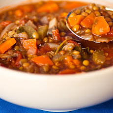 Lentil and vegetable soup