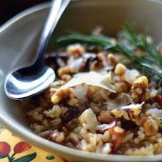 Parmesan Risotto With Walnuts And Bacon