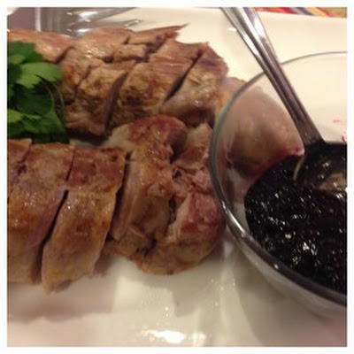 Pork Tenderloin with Blueberry Balsamic