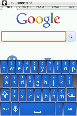Elegant Blue Keyboard Skin