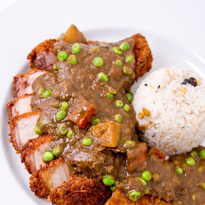 Katsu Curry with Black Curry Sauce