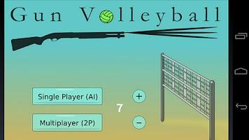 Screenshot of Gun Volleyball