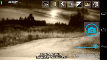 Screenshot of camera pro