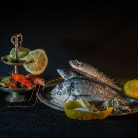 Still life with fish by Rucsandra Calin - Artistic Objects Still Life ( still life, artistic objects )