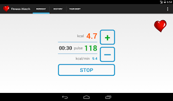 Screenshot of Fitness Watch